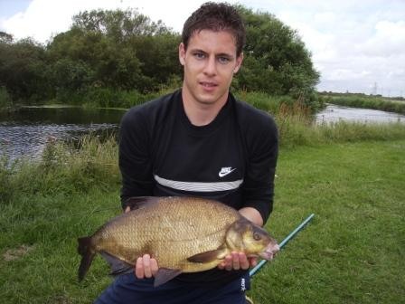 Kirk Thompson and a six pound bream