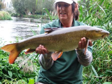 Leanne Jaynes with a 12lb 6oz beauty from Fiddlers West