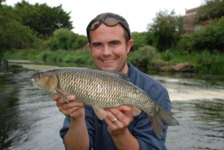 Marc Brion with his first ever chub weighing 5lb 2oz
