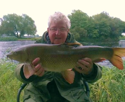 Mick Matthews with a lovely 13lb 8oz barbel