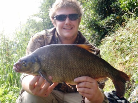 Chris with one of his beloved bream