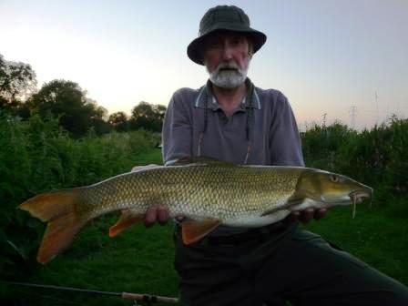Paul Wright with his first barbel for around 30 years!