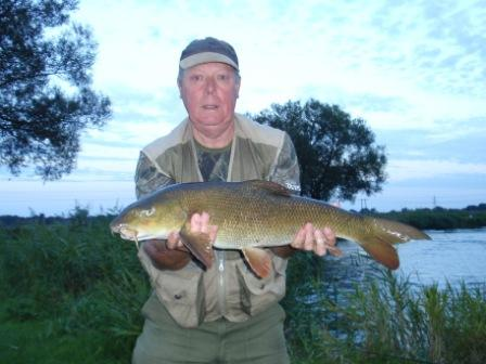Peter Smallbones with a lovely Compound caught barbel