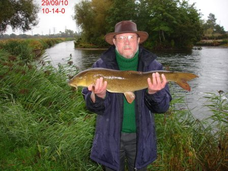 At 10lb 14oz it's double number two for Richard
