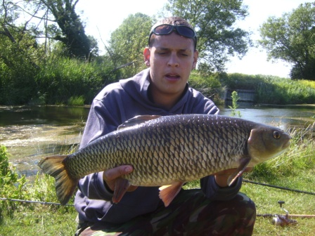 khalid with a nice looking 5lb 10oz chub which fell to pellet