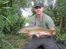 George Cornwell with a 7lb 8oz barbel