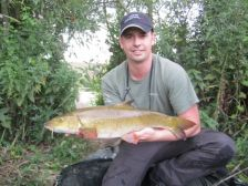 George with another barbel weighing between 7 - 8lbs