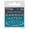 Carbon Match Spade End Hooks Micro Barbed