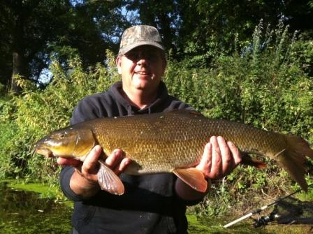 Gavin Mallaby saved the day with this 9lb 2oz barbel