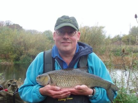 Hugh Pollard with the best of a seven chub haul weighing 6lb 12oz