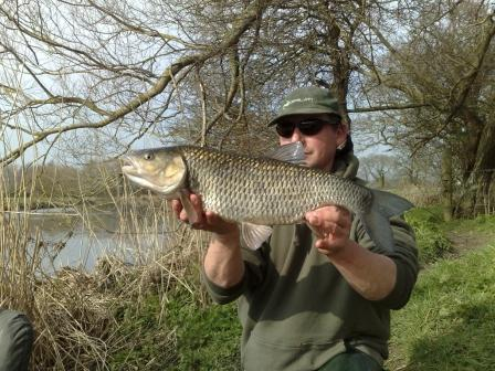 Paul Fuller landed this 6lb 8oz chub from Throop