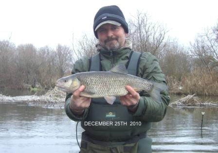 Nick Roberts with a xmas day chub