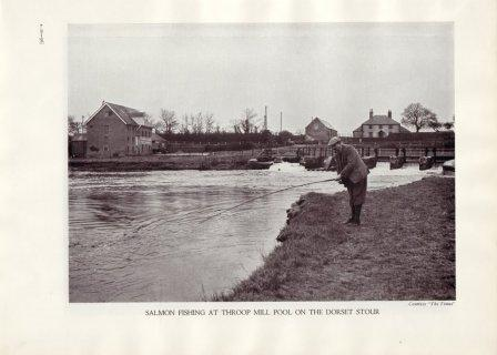 Salmon fishing at Throop Mill before the Stour was 'improved'