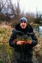 You'll just have to take Brian's word that this postage stamp shows Sean Dent with a 2lb 5oz Perch